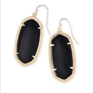 Kendra Scott Elle Gold Drop Earrings in Black